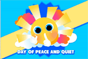 Day Of Peace And Quiet printable gift card