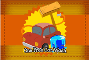 One Free Car Wash printable gift card
