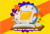 One Hour Of Computer Time printable gift card